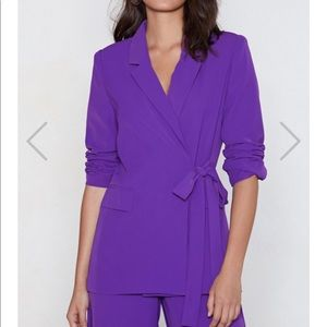 Nasty Gal Purple Suit Co-Ord